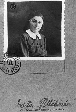 Edita Pollakova murió en el campo de concentración de Auschwitz el 44 de octubre de 1944