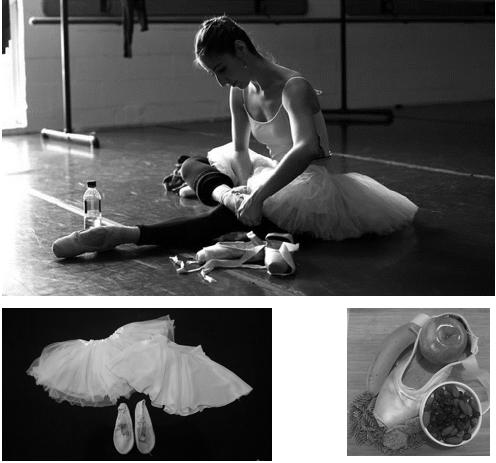 La identidad de una bailarina, por ejemplo, puede observarse en sus valores (la alimentación de cierto tipo) y en su vestimenta de trabajo.