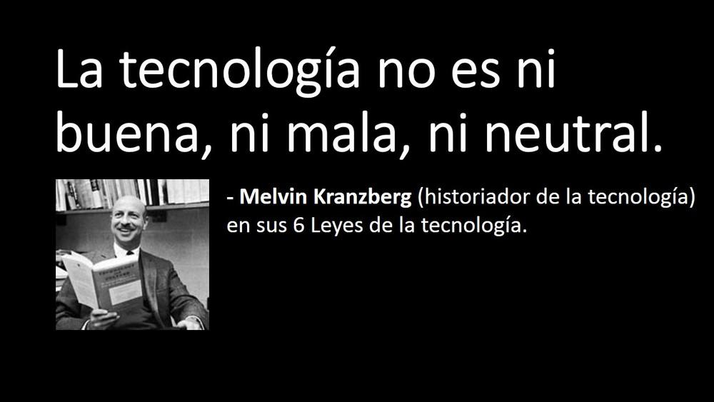 Puedes descargar las 6 leyes de la tecnología de Kranzberg  aquí .