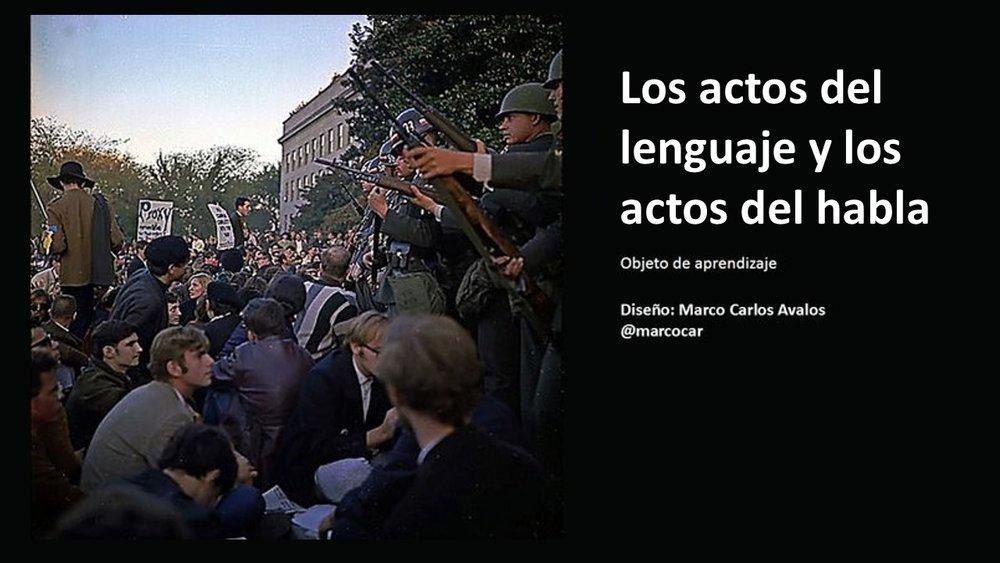 Actos del lenguaje y el habla