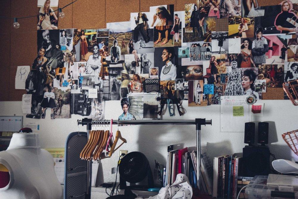 studio inspiration corkboard