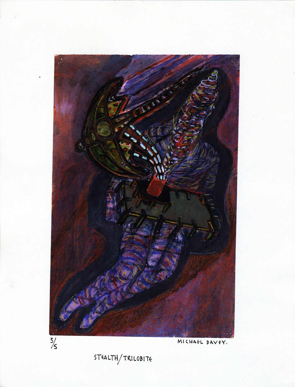 MICHAEL DAVEY Stealth/Trilobite , 2000 Colour Xerox