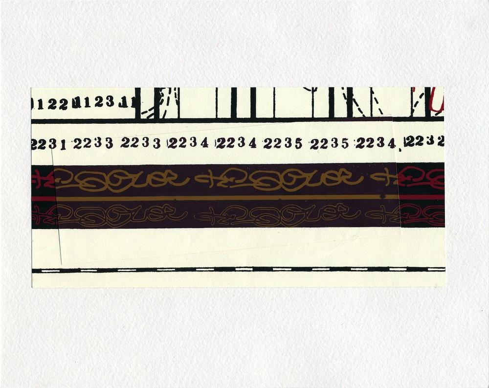 PATRICK MAHON  Palindrome Wallpaper Montage , 2000 Wallpaper on card