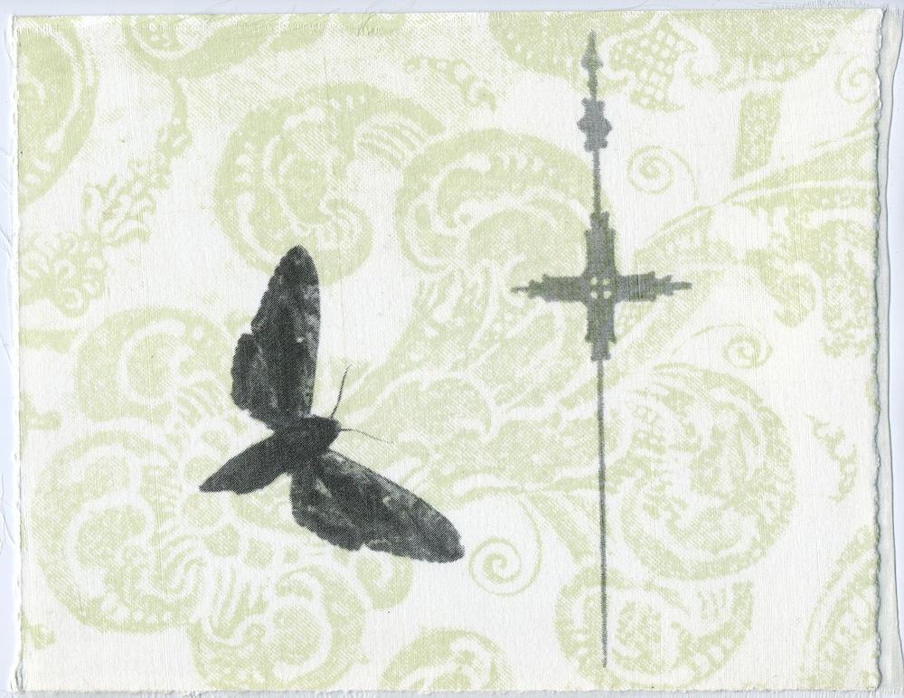 PENELOPE STEWART Wallpaper II, 2000 Silkscreen, Organza