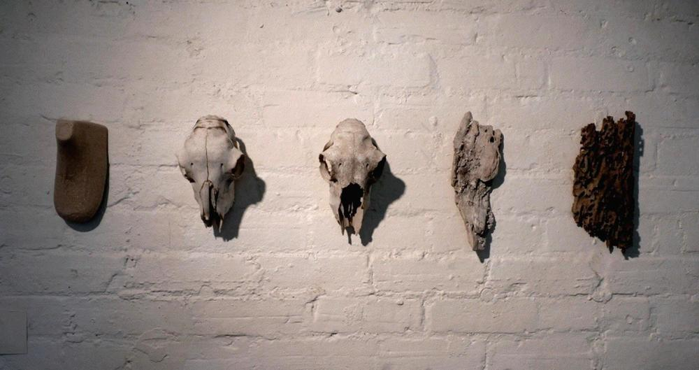 BLINK COLLECTIVE Relics, 2011 Shoe form, animal skulls, wood.