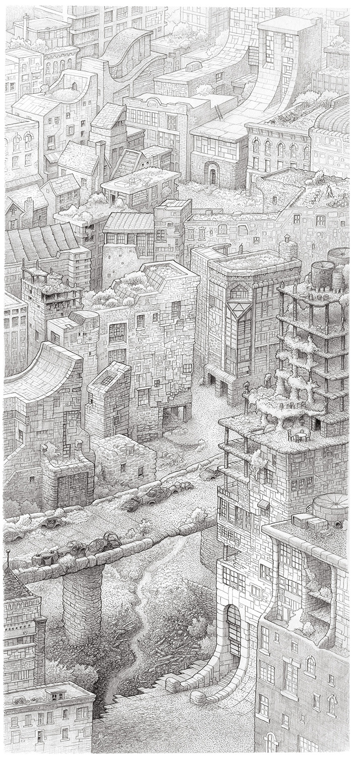 "Uptown Trail , 2008 Pencil  10"" x 20"""