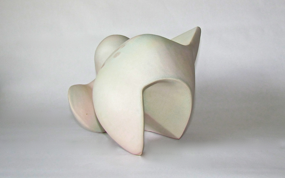 MARISSA ALEXANDER  under/over 1 , 2014. Ceramic, 12 x 12 inches.
