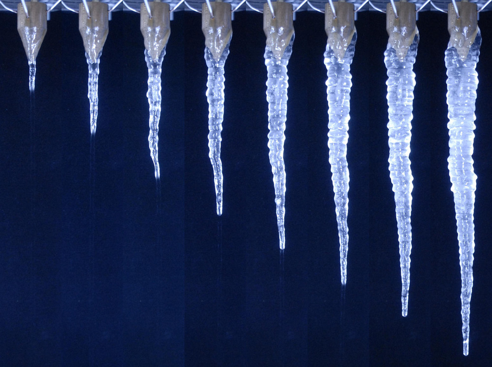 STEPHEN MORRIS   Ripply Icicle Time Lapse, Images from the Icicle Atlas.  2014  Inkjet Print