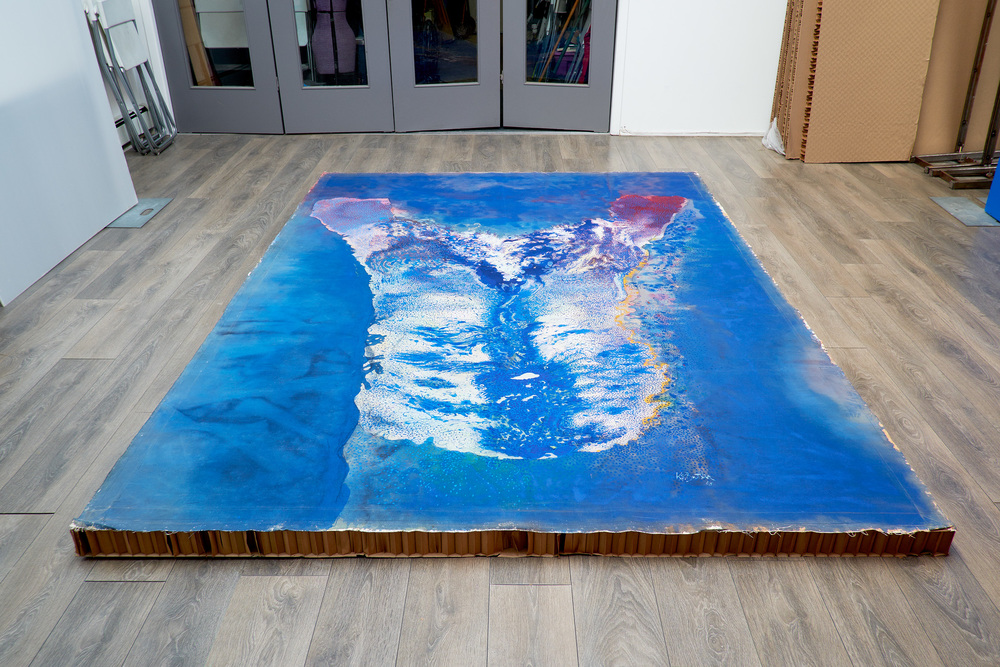 JACK BUTLER  Colossus  , 1968  Acrylic on Canvas, 111 x 79 inches