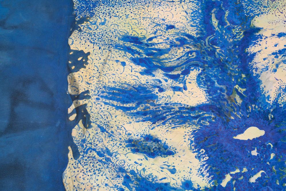 """Colossus  (detail 1) Acrylic on Canvas  111"""" x 79"""" 1968"""