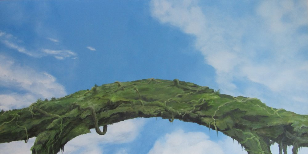 LYNN CHRISTINE KELLY bridging the gap  oil on linen, 36x72inches