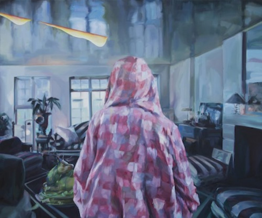 That's not how we do things here 02 ,2011 Oil, acrylic and pastel on canvas 40 x 48 inches