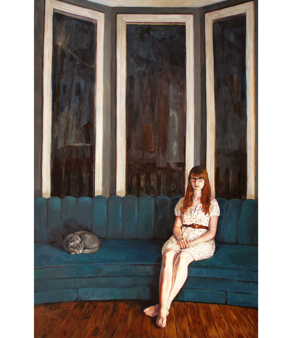 "At Night (Hollie),  2011-2014 Oil on canvas 60"" x 40"""