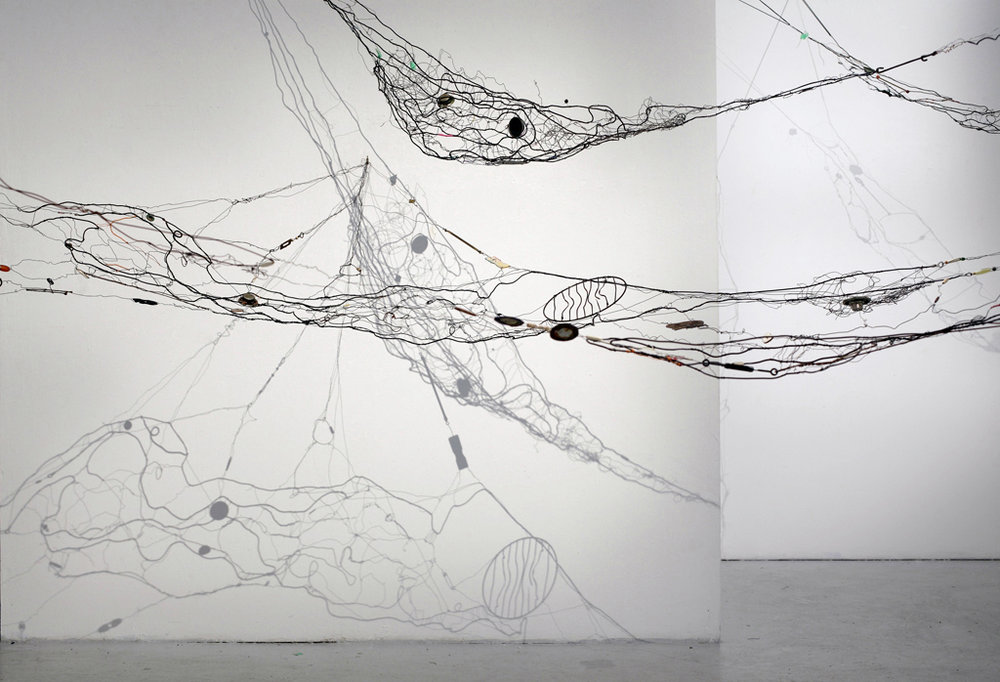 Collected Memories (Detail), 2014 Mixed Media Wire and Sound System 25' L x 20' w x 12' h (variable size)