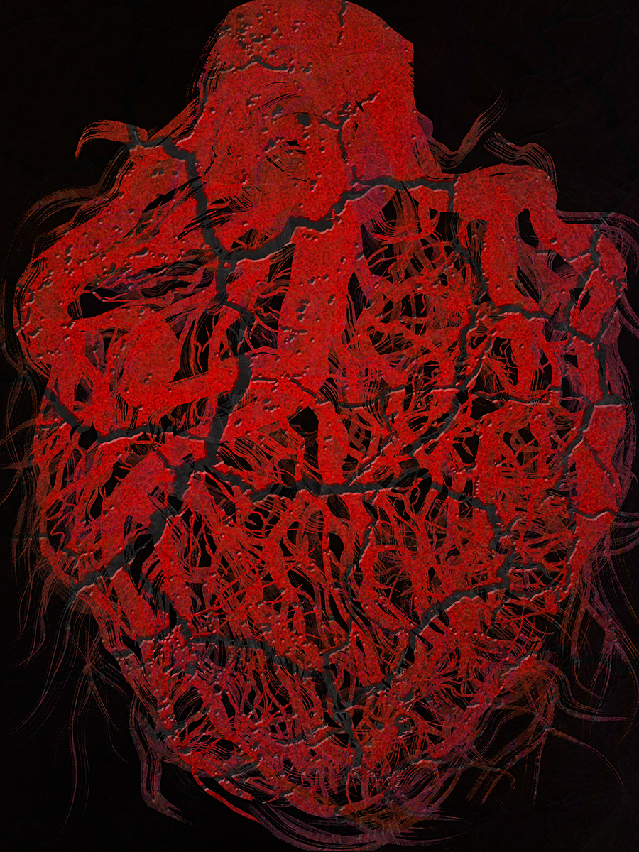 "Tangled Heart, Breaking , 2017 Photo-digital mixed media, pigment print on hot press paper Edition of 3 36"" x 24"""