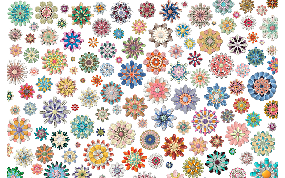 Pillflowers,  2003 - ONGOING Digitally manipulated imagery
