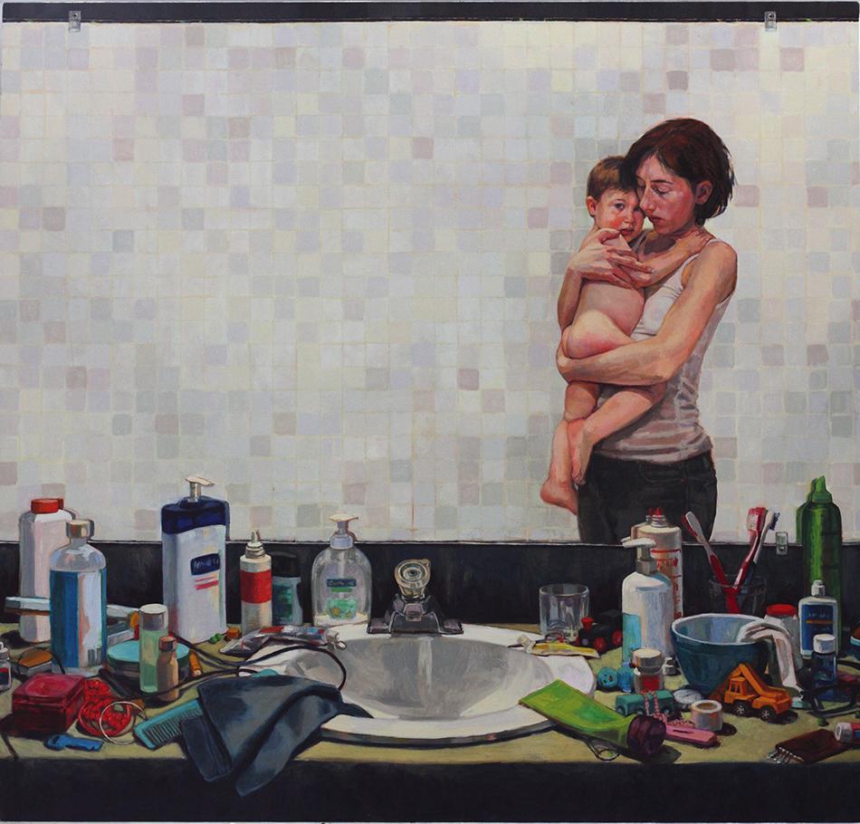 "CHRISTINA SEALEY  Interior (Lukas),  2011 Oil on linen 40"" x 42"""