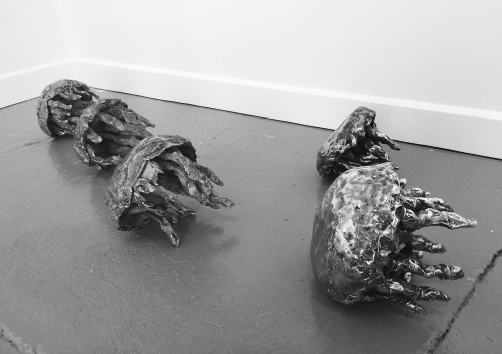 The Issue with Jellyfish , 2017 Cast aluminum from a series of five sculptures Dimensions variable