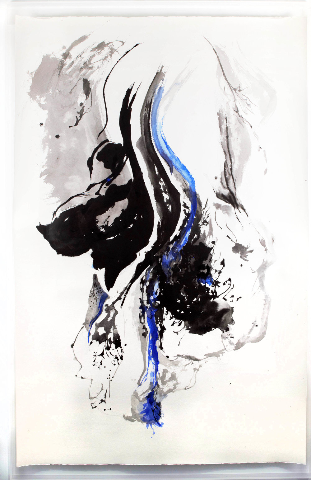 """Counterpoise No. 1 ,2017 Chinese inks and watercolour on Arches paper 48"""" x 36"""""""