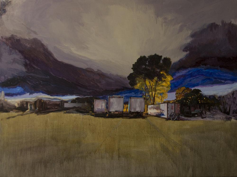 """Untitled,  2018 Oil on birch board 36'"""" x 48"""""""