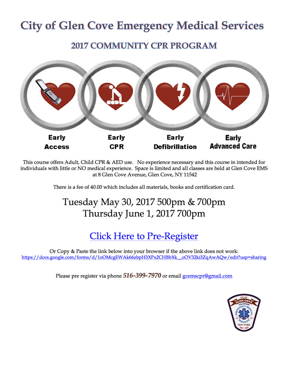 2017 GCEMS Community CPR