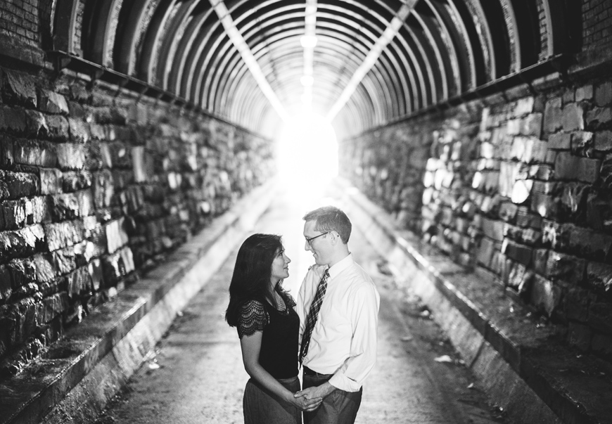 003 Wilkes Tunnel black and white portrait of couple