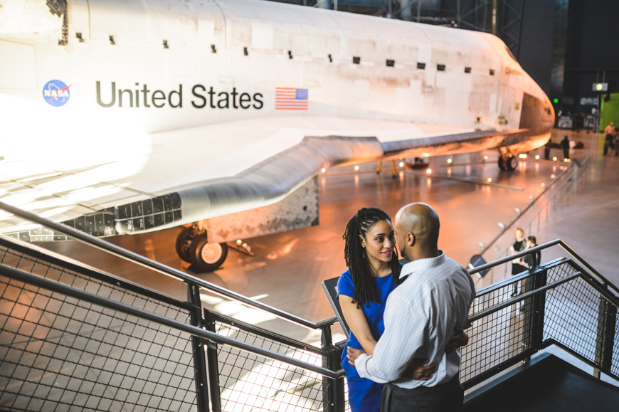 004 portrait of couple near space shuttle