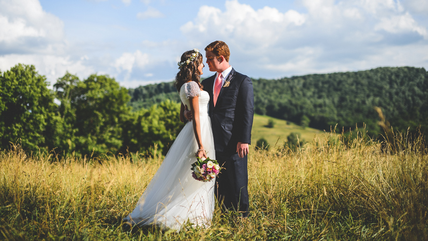 005 Bride and groom at top of mountain