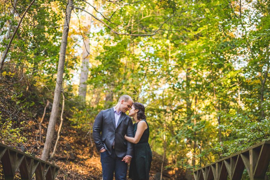 005 couple on a bridge in autumn