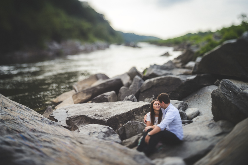 014 couple shares beautiful moment on rocks by the river