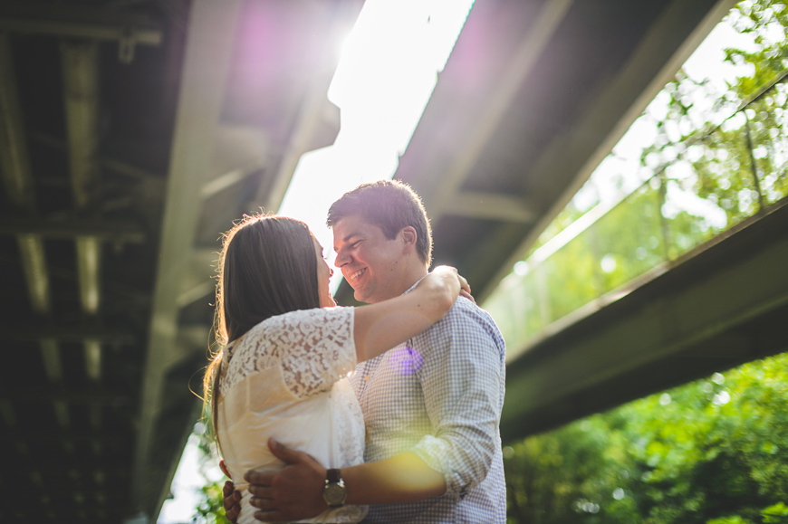018 creative engagement photo under a bridge