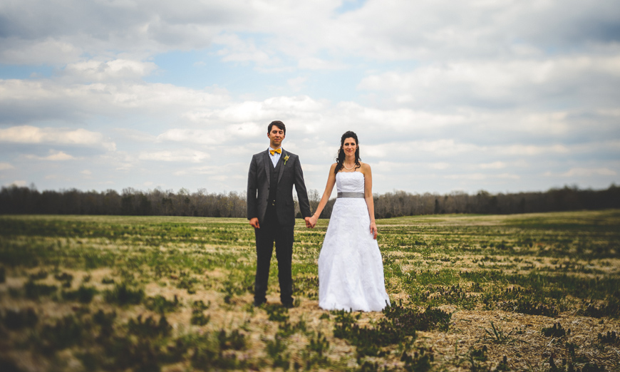 021 Bride and groom in field