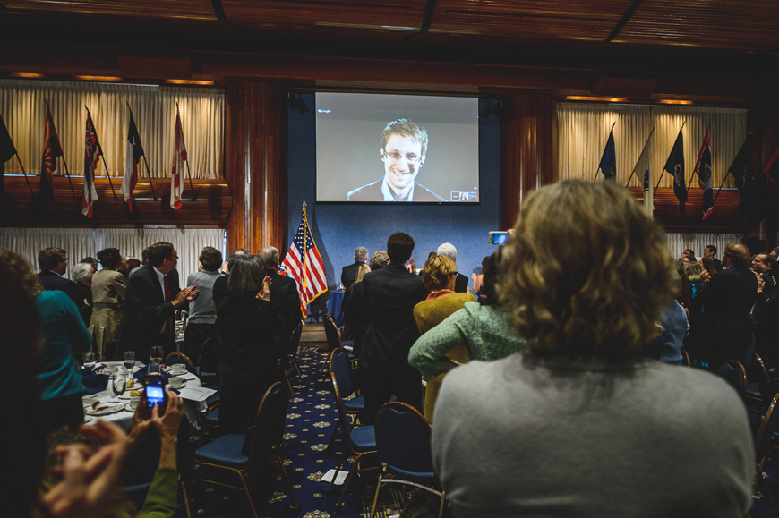 064 Edward Snowden video conference national press club
