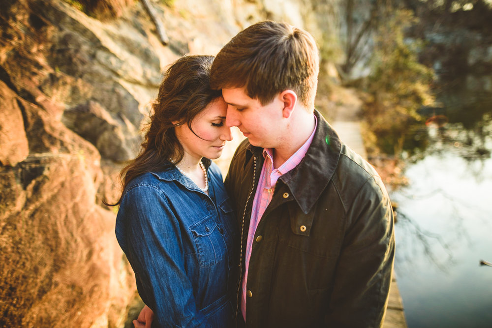 008 - couple with closed eyes at belle isle richmond virginia engagement photographer nathan mitchell.jpg