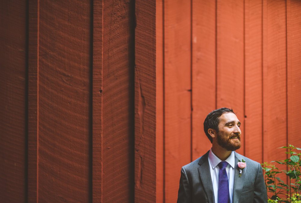 002 - creative composition of groom on his wedding day using lines and rule of thirds.jpg