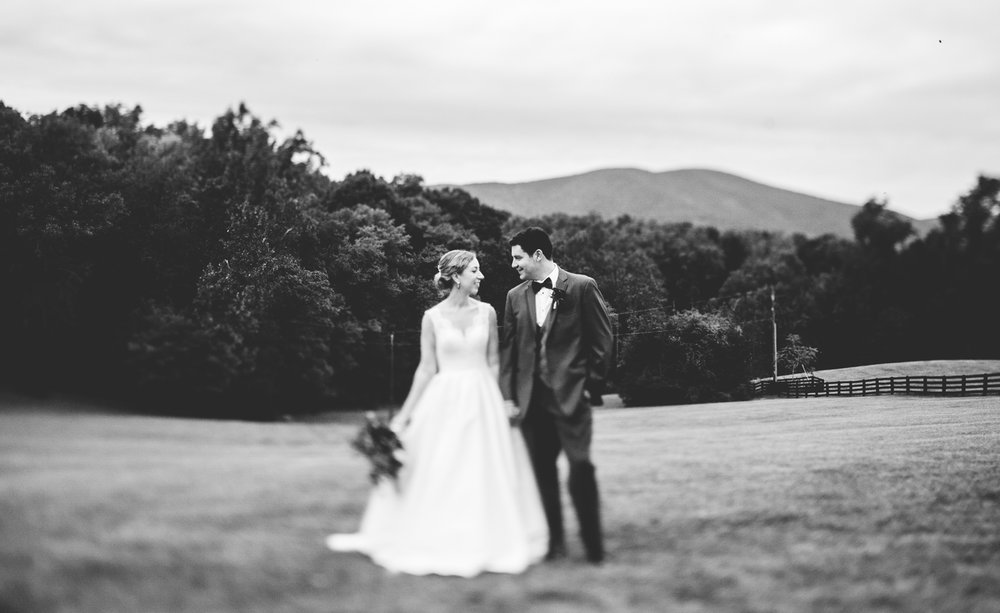 007 - black and white wedding portrait in the blue ridge mountains.jpg
