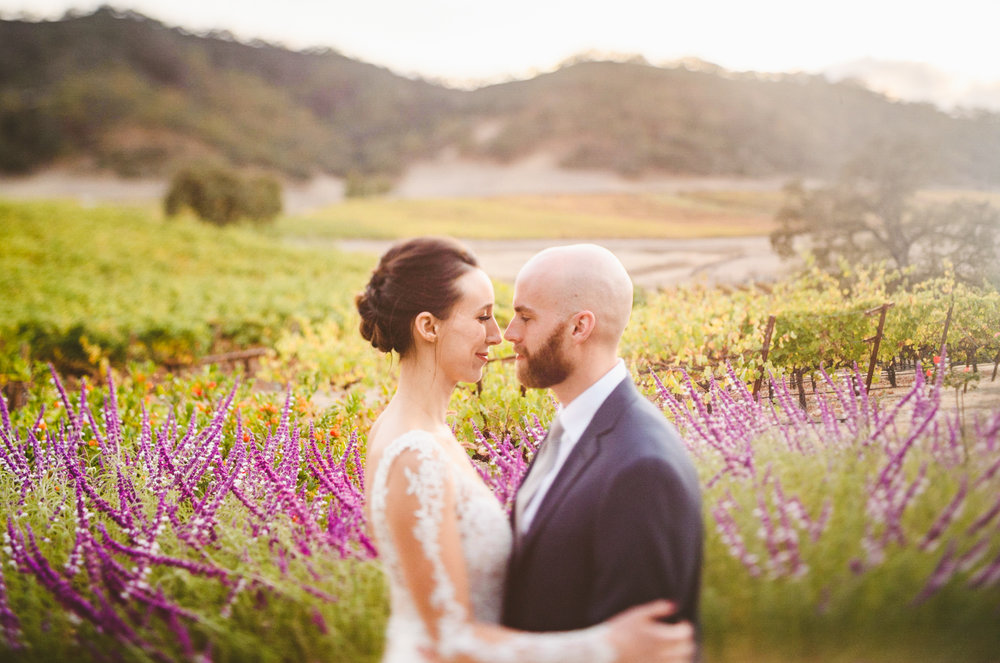 021 - freelensed portrait in front of lavendar - richmond wedding photographer nathan mitchell.jpg