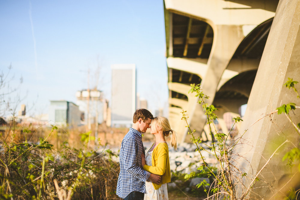 007 - couple poses next to manchester bridge in richmond wedding photographer.jpg