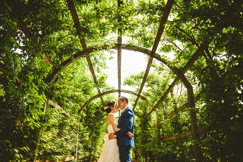 015 - washington dc wedding photographer nathan mitchell creative portrait under green flower tunnel.jpg