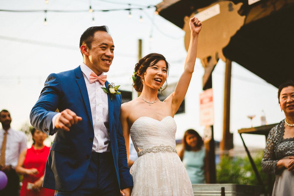 050 - bride and groom cheer at their wedding in virginia.jpg