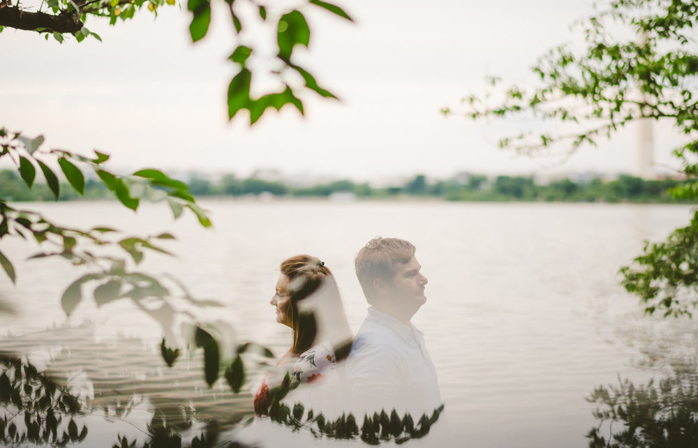 007 - reflection of couple engagement photo washington dc wedding photographer.jpg