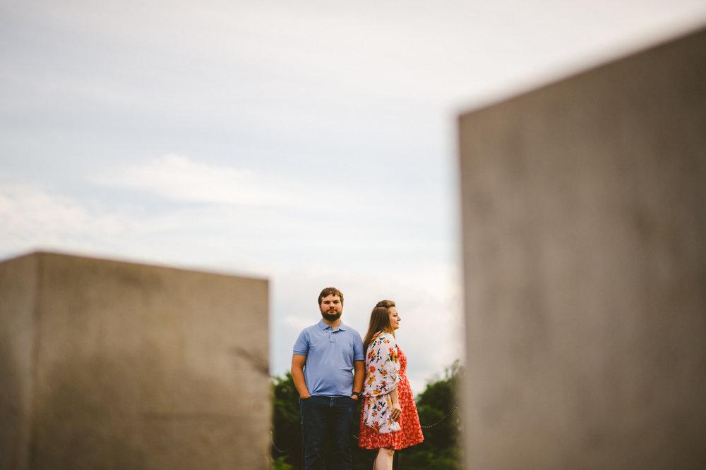 060 - creative portrait of engaged couple near tidal basin.jpg