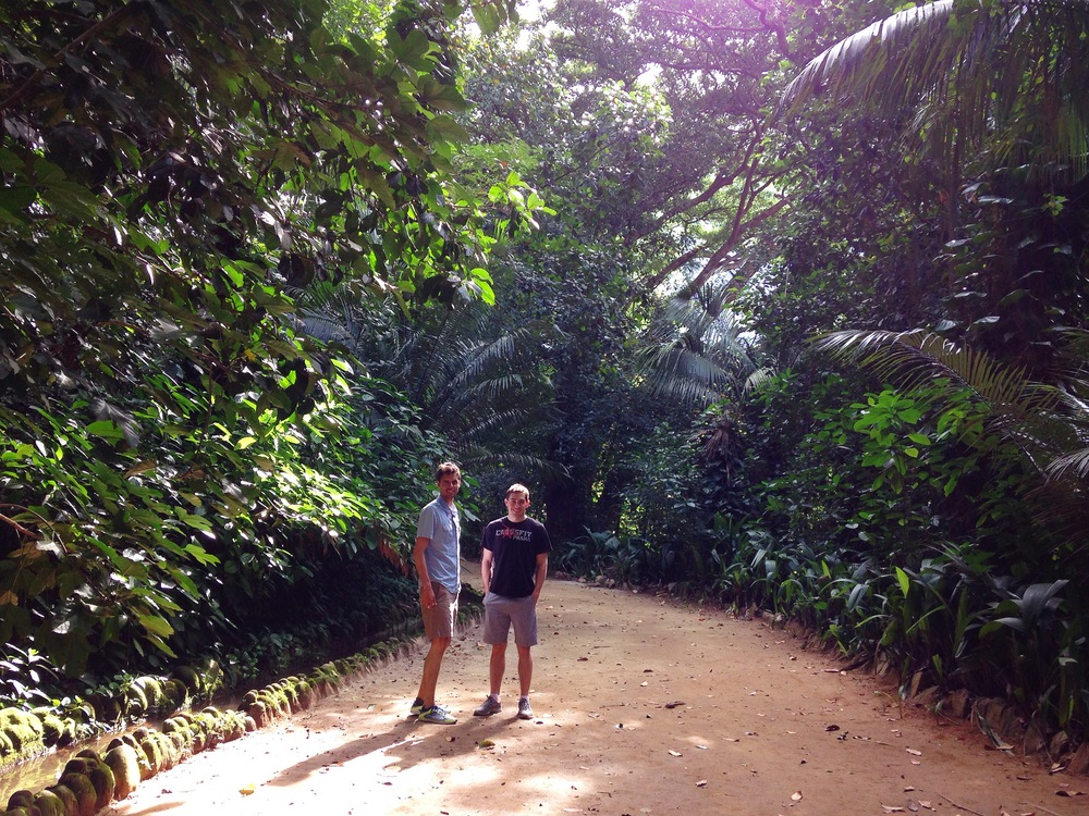 Rick and Erin in the forest of Jardim Botanico