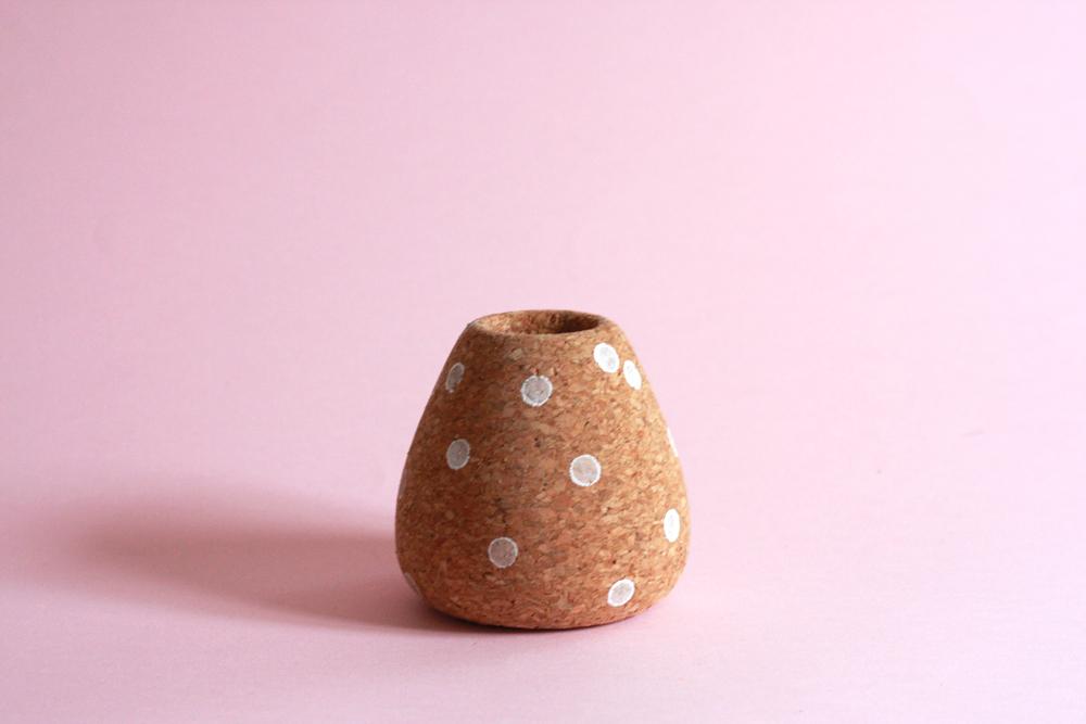 Shop Pink:Polka Dot Teardrop Vase, $45