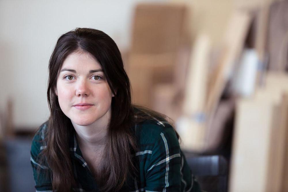 Ariane in her studio in Brooklyn, NY. Photo by:Xavier Portela