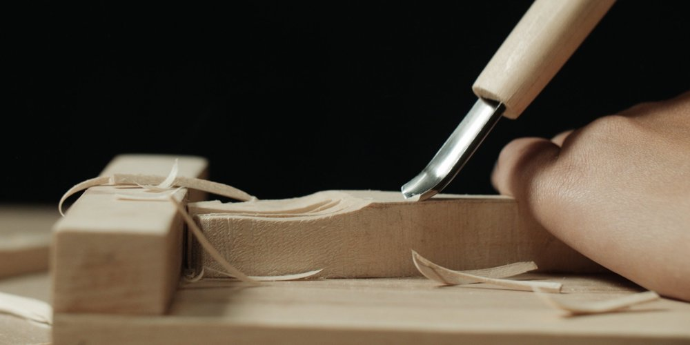 Still shot from the  Knife Carving Tutorial  we made together.