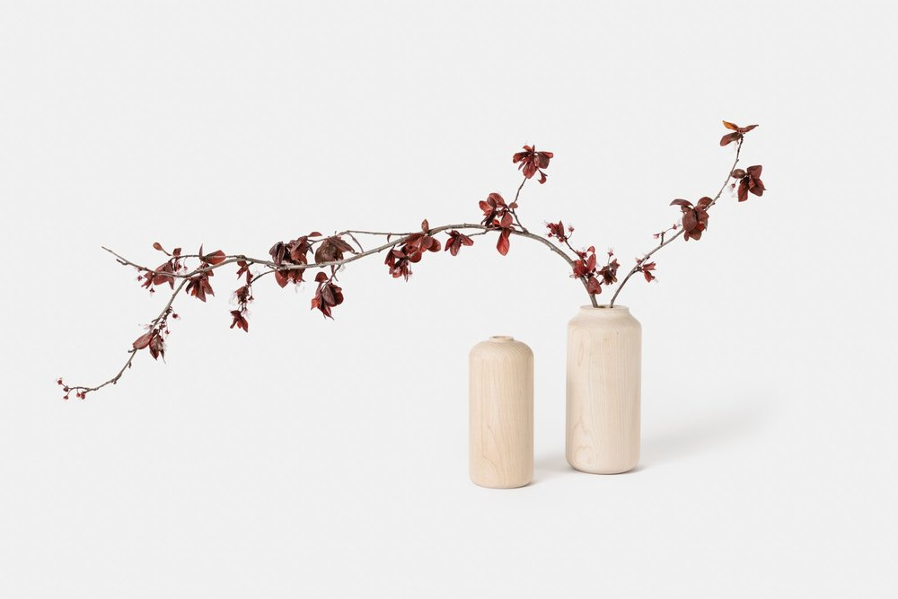 Tall Maple Vases