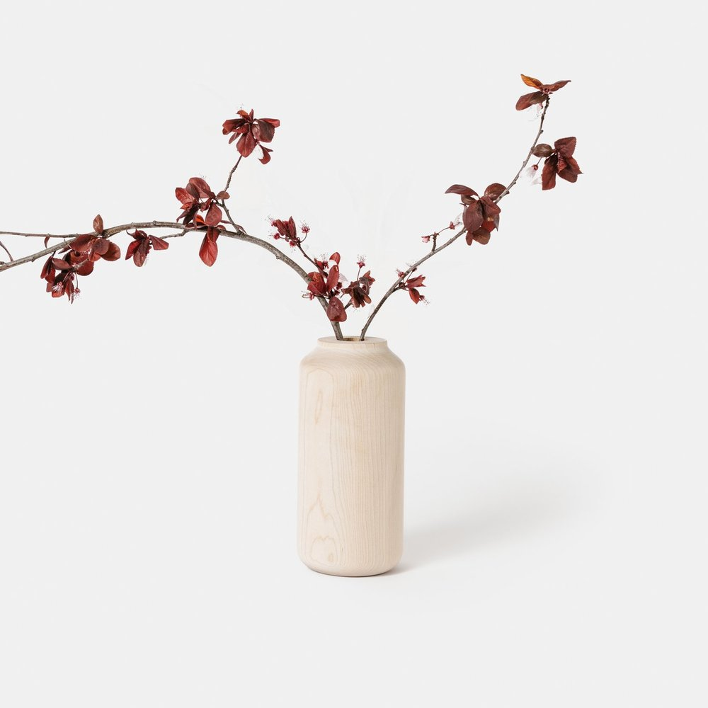 Tall + Wide Maple Vase