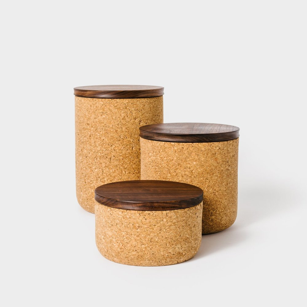 Walnut Tea Canisters