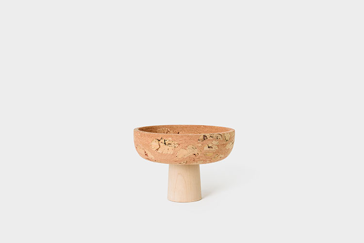 Pedestal Bowl - As a decorative element or a functional piece our new Pedestal Bowl will tie together any space effortlessly. Made of pure maple wood and pink cork these bowls are anti-bacterial and represent the power a single piece can bring to a room.